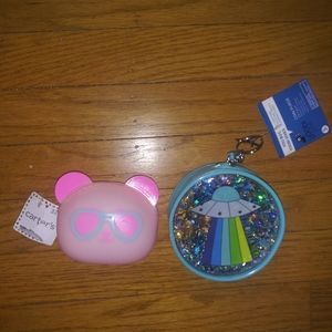 Two coin purses Yoobi and Carter's NWT UFO and 🐻